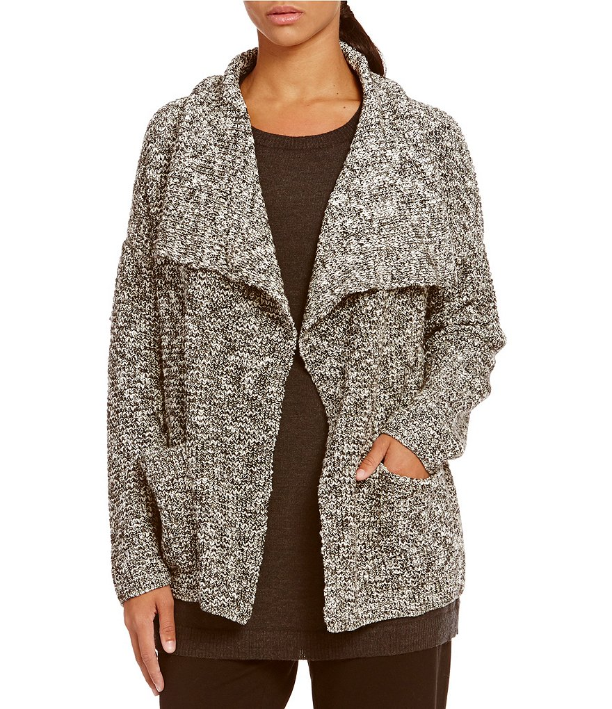Eileen Fisher Drape Front Long Cardigan