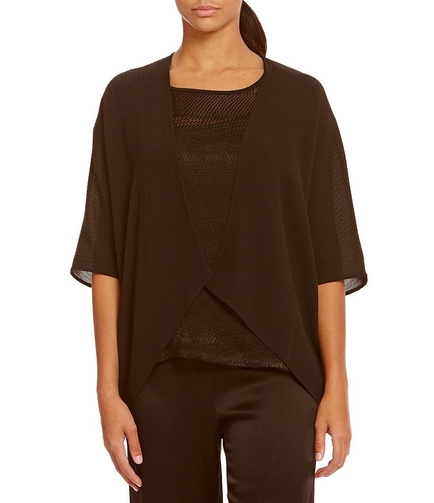 Eileen Fisher Accordion Silk Jacquard Jacket