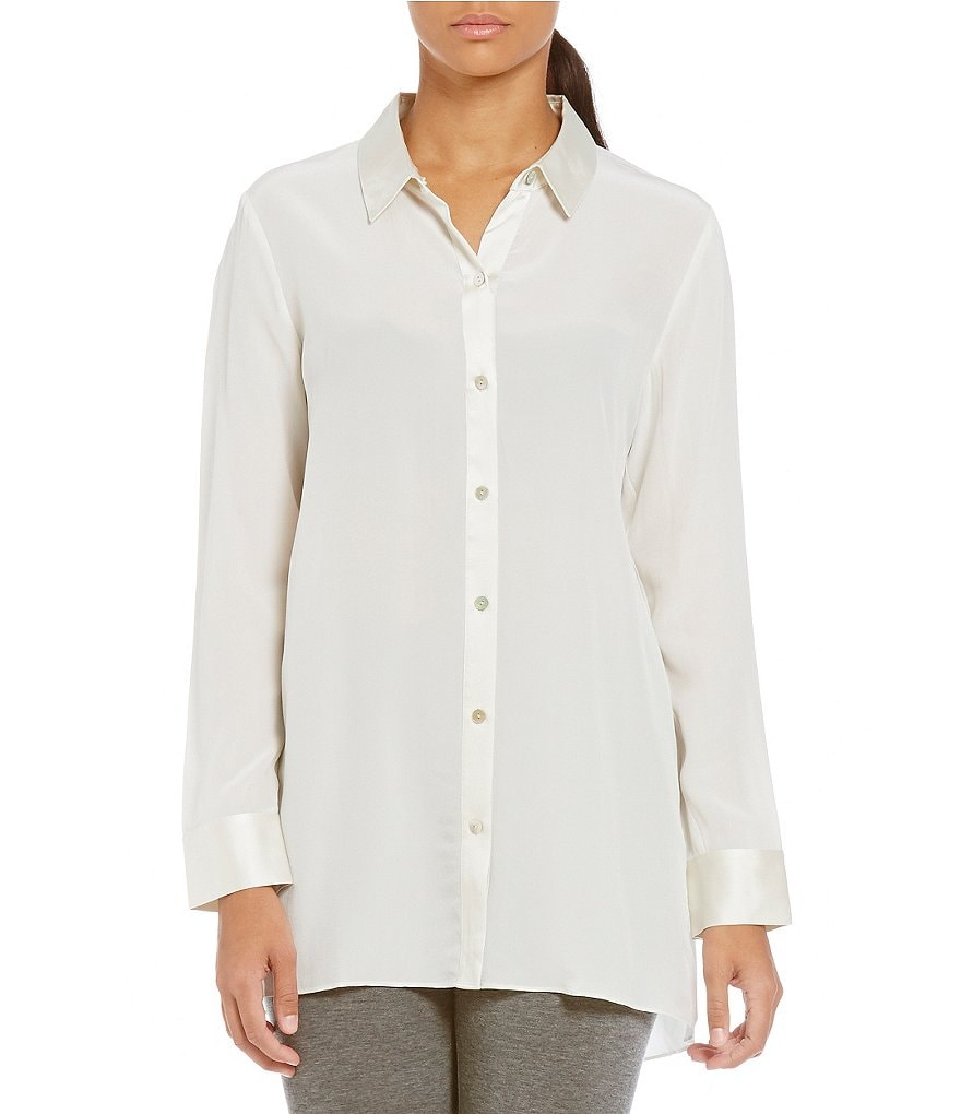 Eileen Fisher Classic Collar Hi-Low Tunic