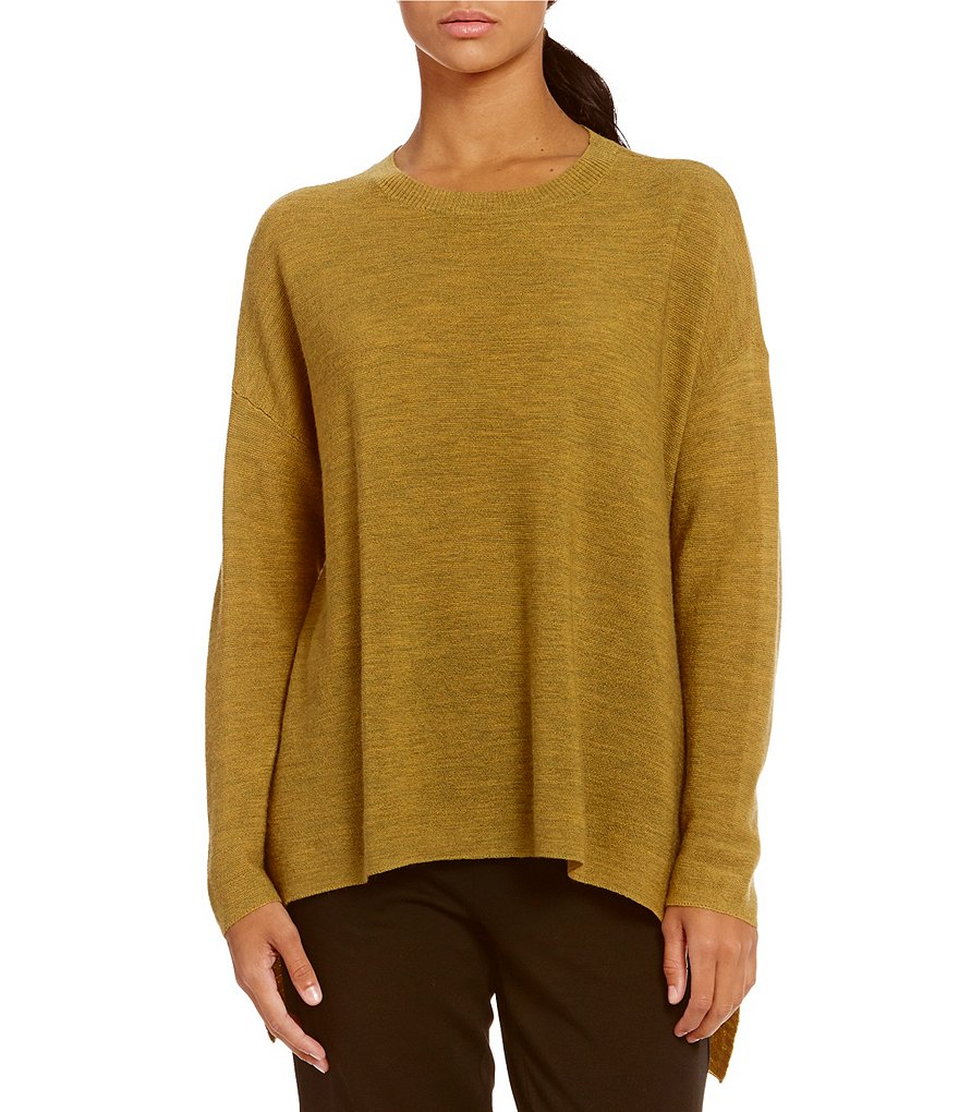 Eileen Fisher Ballet Neck Long Sleeves Top