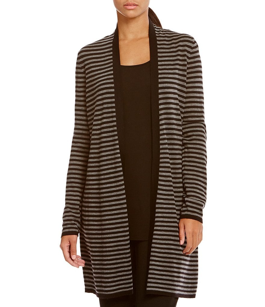 Eileen Fisher Full Length Merino Wool Cardigan
