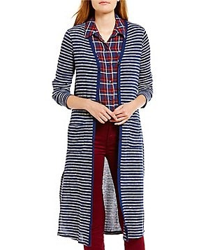 Splendid Stripe Maxi Cardigan