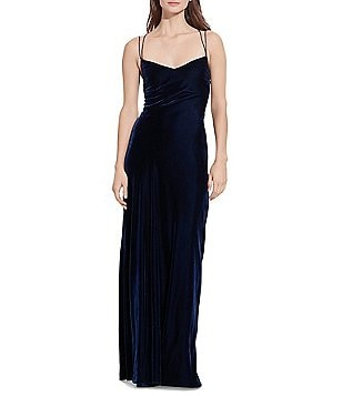 Lauren Ralph Lauren Open-Back Sleeveless Velvet Gown