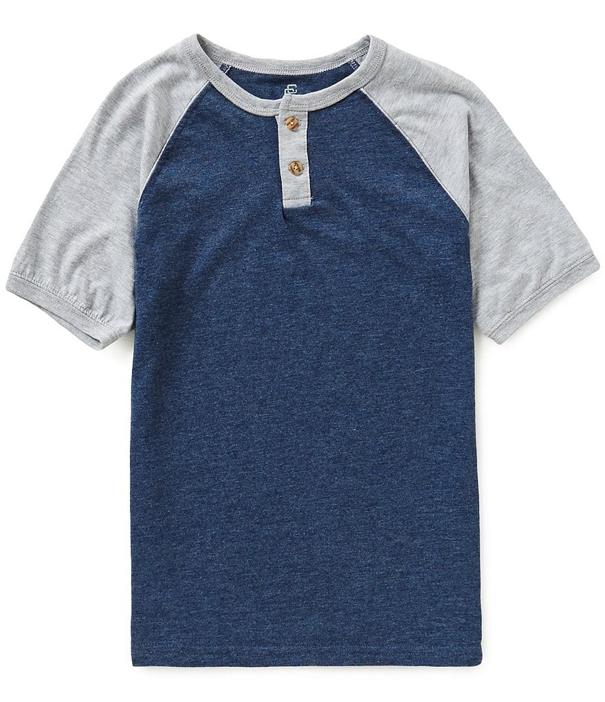 Class Club Big Boys 8-20 Short-Sleeve Raglan Henley Shirt