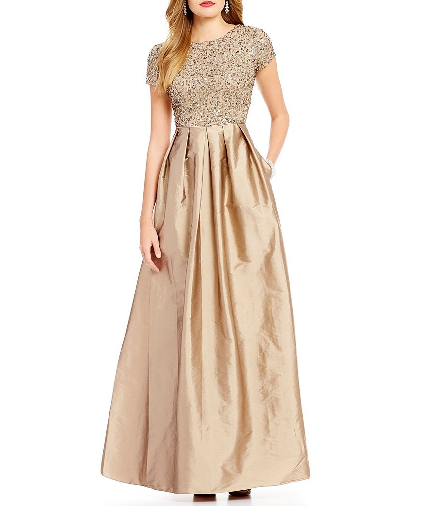 Adrianna Papell Beaded Bodice Gown