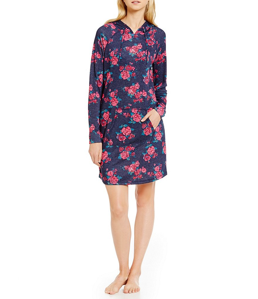 Jasmine & Ginger Floral Hooded Sleepshirt
