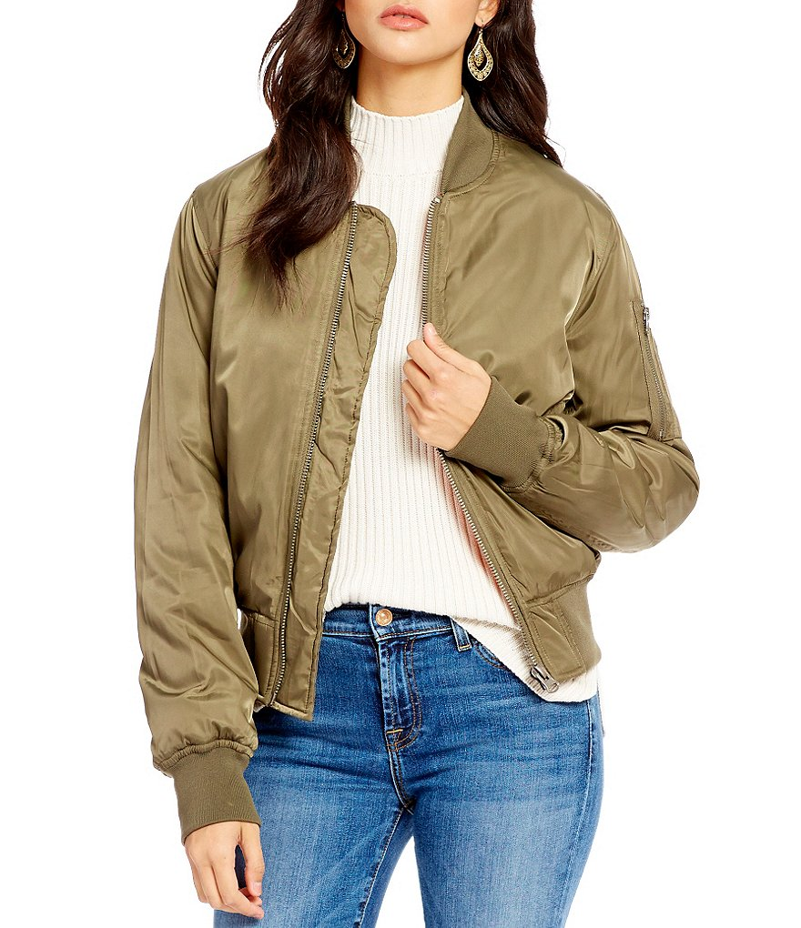 RD Style Mock Neck Bomber Jacket