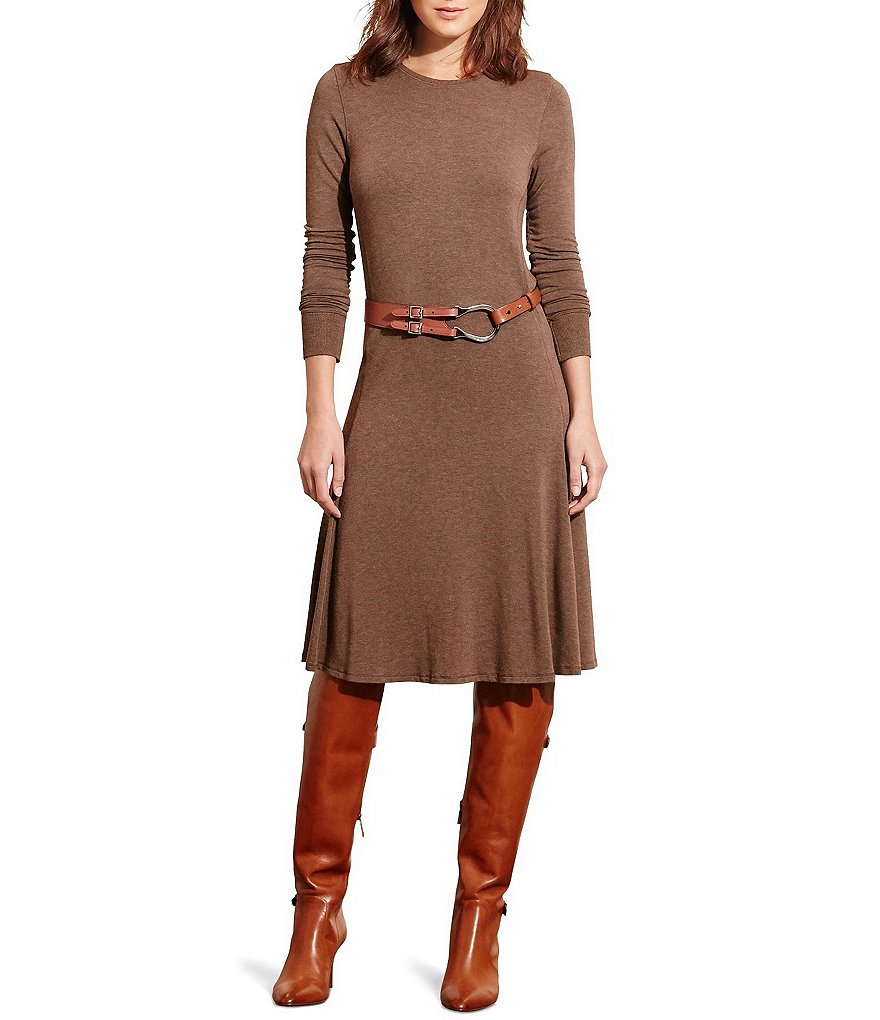 Lauren Ralph Lauren Long Sleeve French Terry Dress
