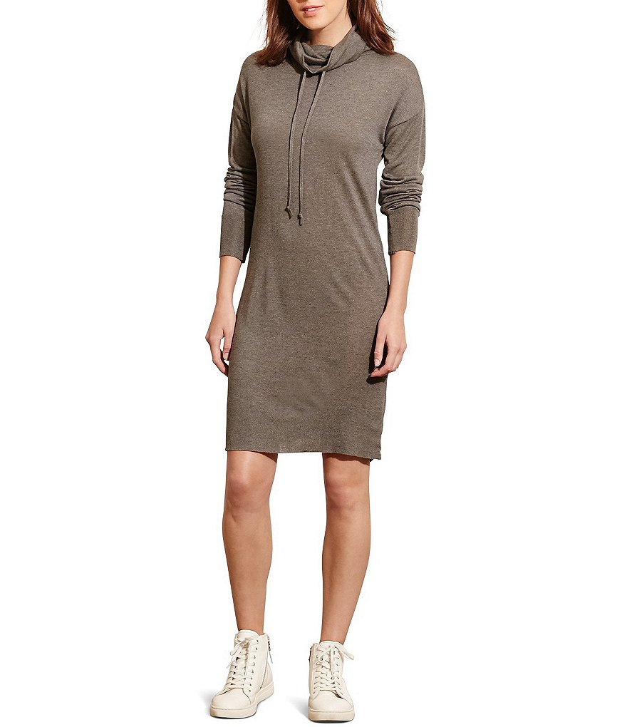 Lauren Ralph Lauren Jersey Funnel Neck Dress