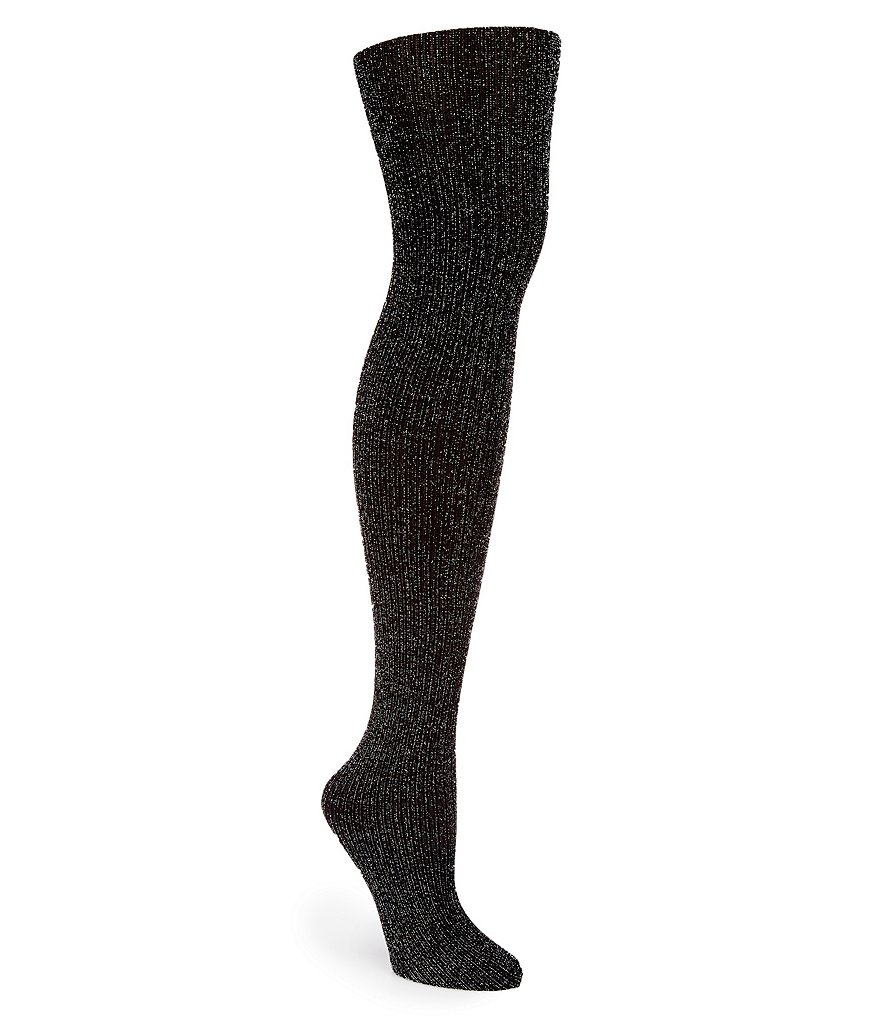 HUE Metallic Ribbed Tights