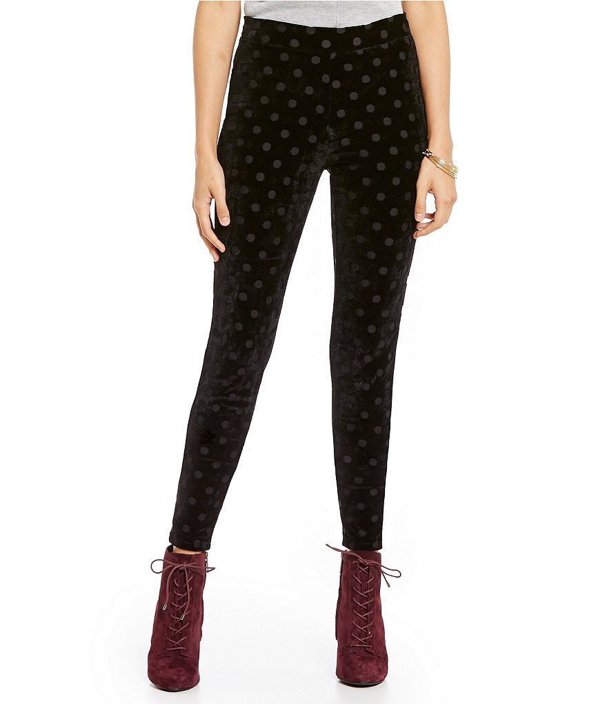 HUE Burnout Dot Velvet Leggings