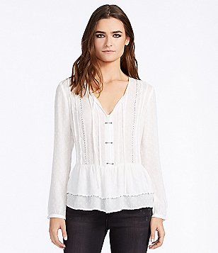 William Rast Devon Beaded Peplum Blouse