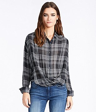 William Rast Aster Plaid Woven Shirt