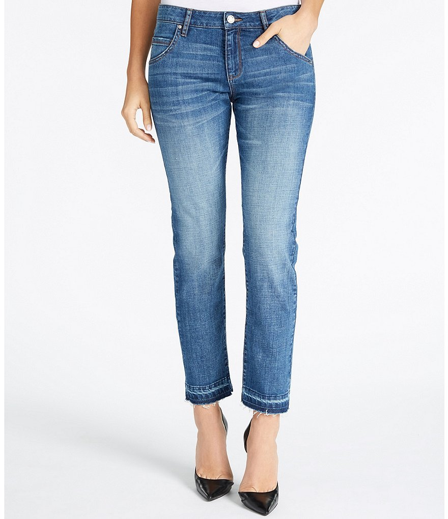 William Rast Tomboy Slim-Fit Release Hem Jeans