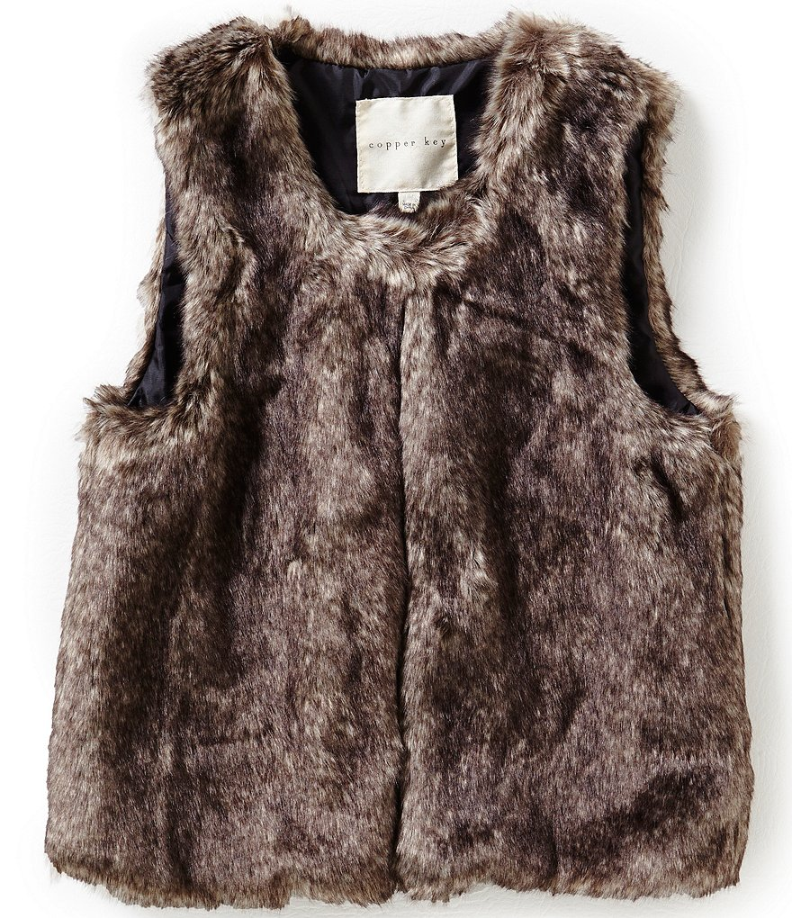 Copper Key Little Girls 2T-6X Faux-Fur Vest