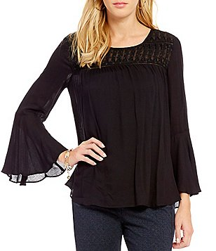 Jessica Simpson Wilma Bell Sleeve Peasant Top