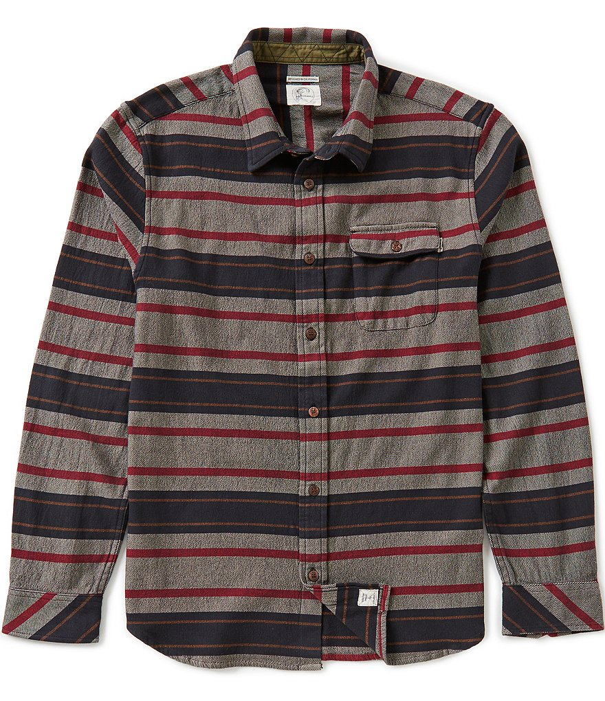 O´Neill Bandlands Long-Sleeve Horizontal-Stripe Stretch Flannel Shirt