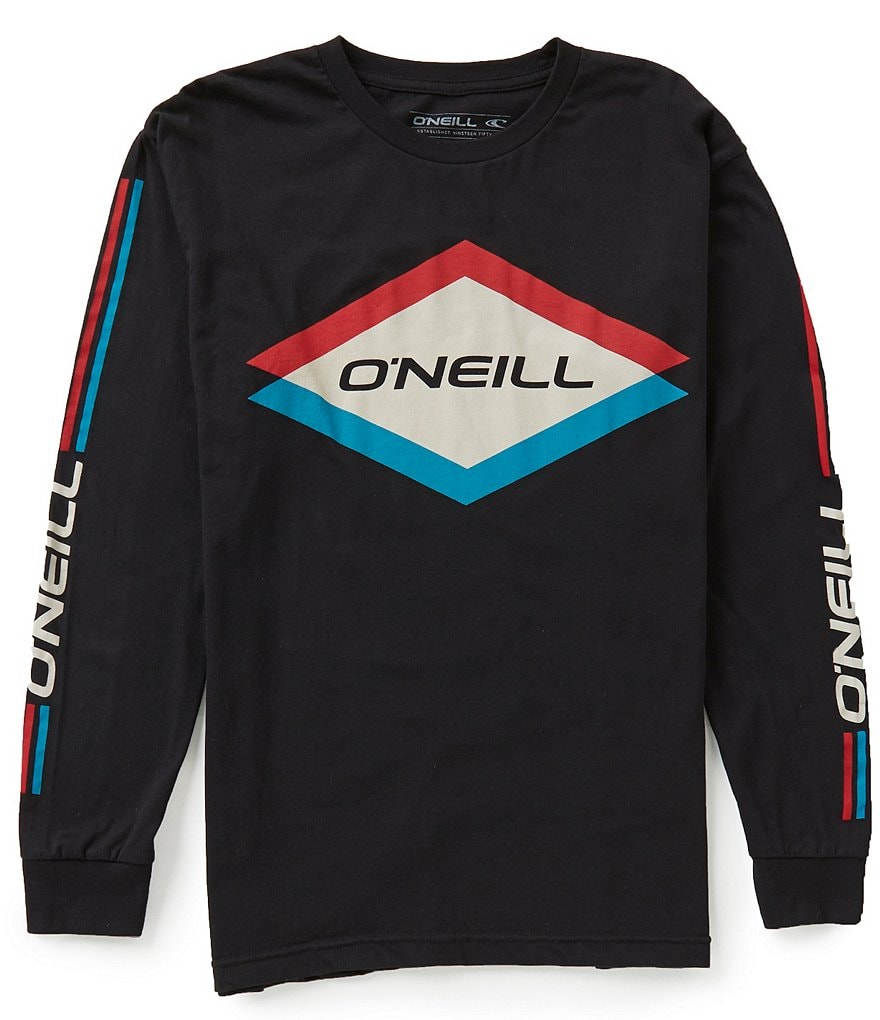 O'Neill Carbide Long-Sleeve Soft Hand Screen Print Graphic Tee