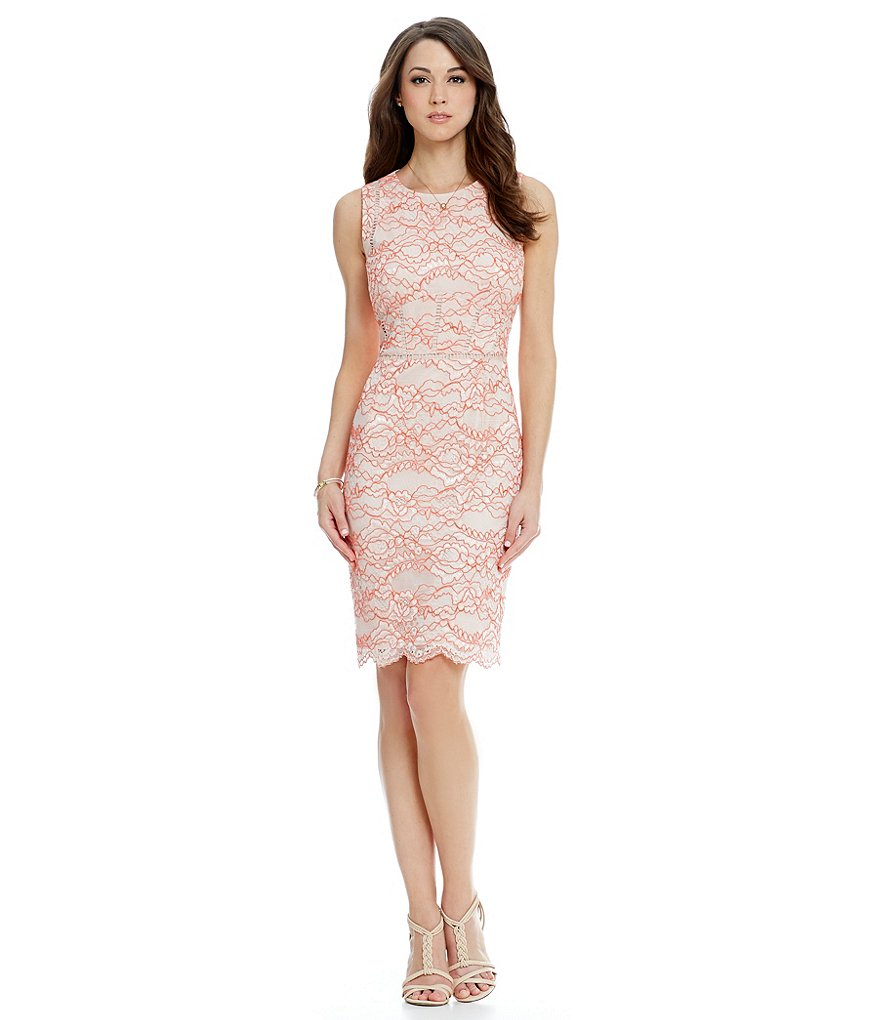Antonio Melani Barb Lace Sheath Dress