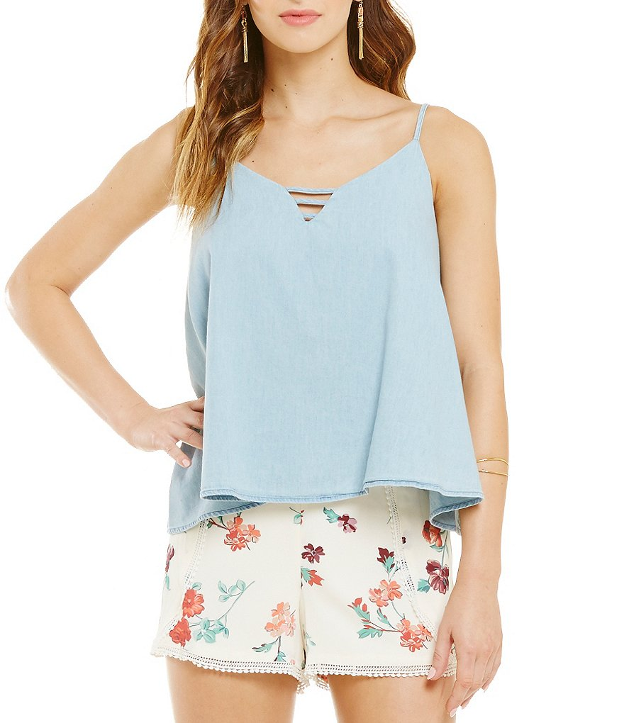 Copper Key Chambray Swing Tank