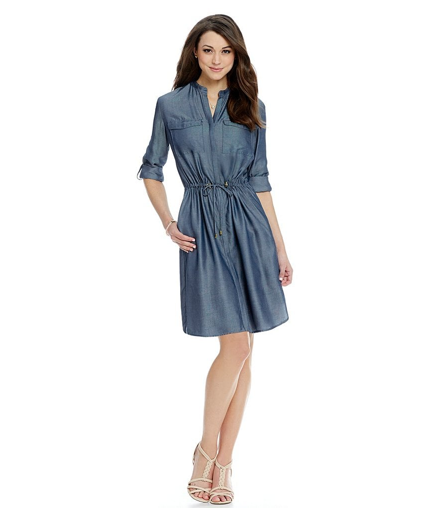 Antonio Melani Jenna Chambray Shirt Dress