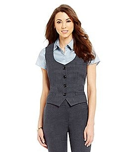 Antonio Melani Frankie 4-Button Plaid Vest Image
