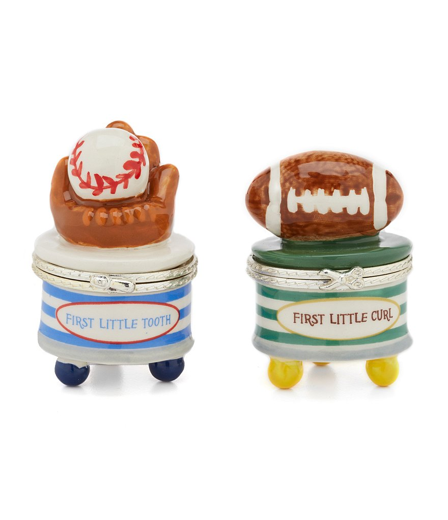 Mud Pie Baby Boys Sports Tooth And Curl Hinged Box Set