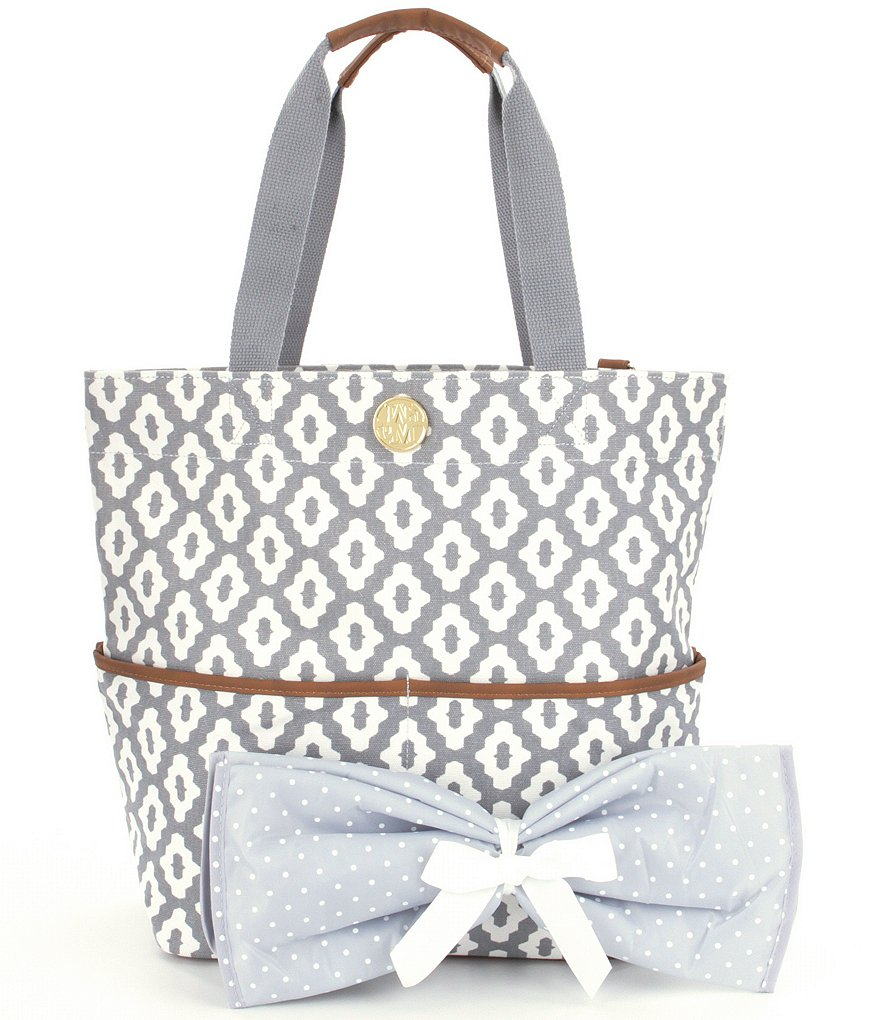 Mud Pie Big Bundle Printed Tote and Coordinating Changing Pad
