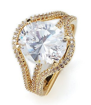 Nadri Oval Cubic Zirconia Ring