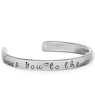 Mud Pie Baby Girls Love You To The Moon And Back Silver Cuff Bracelet