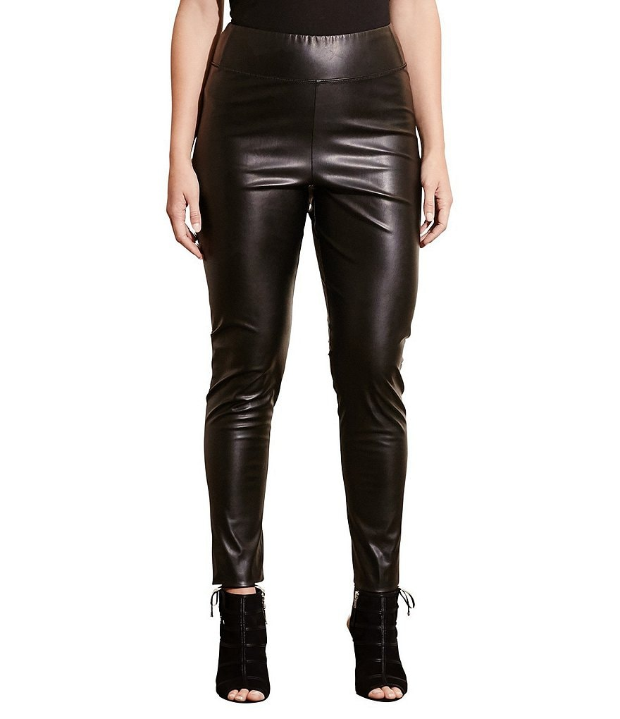 Lauren Ralph Lauren Plus Faux-Leather Legging