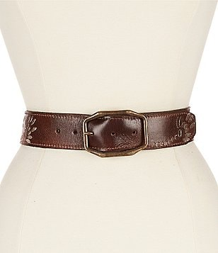 Bed Stu Mohawk Embroidered Leather Belt