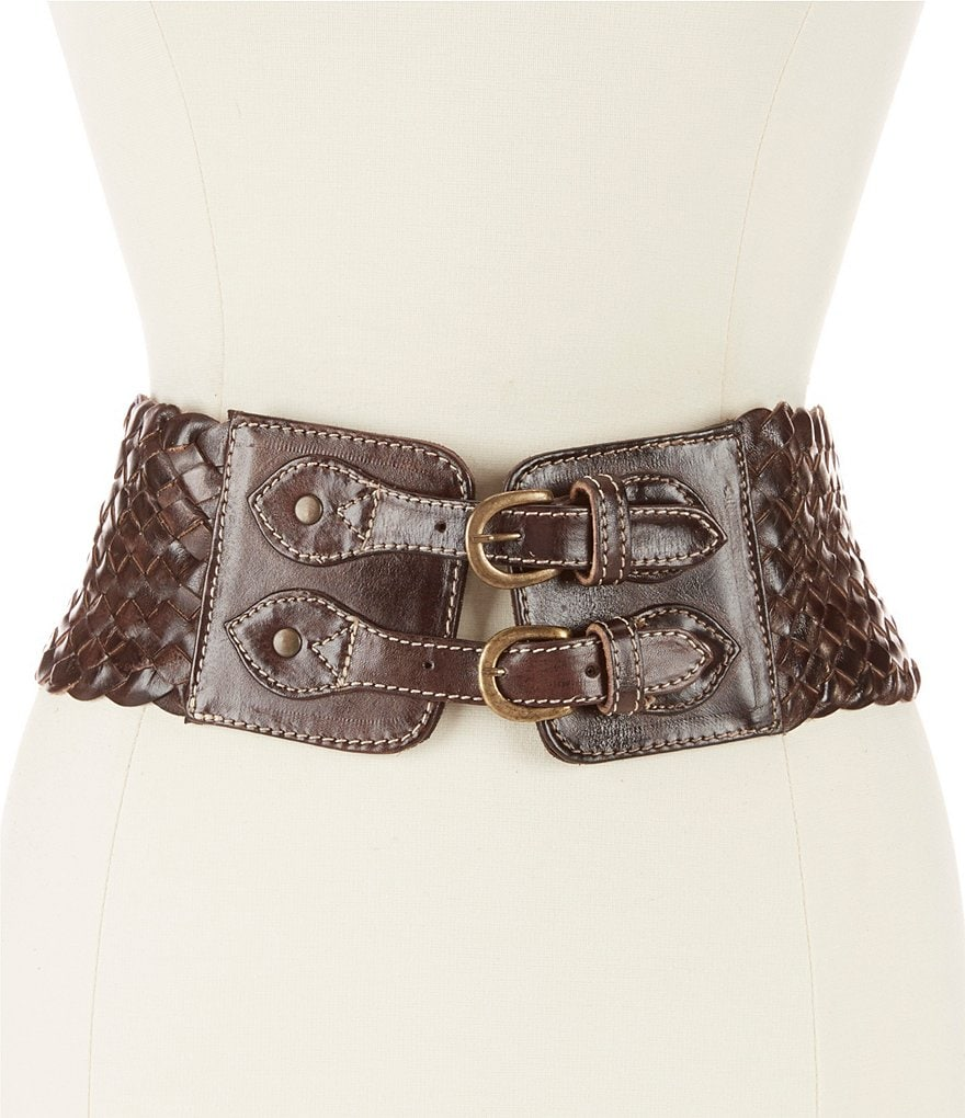 Bed Stu Quirk Wide Woven Leather Belt