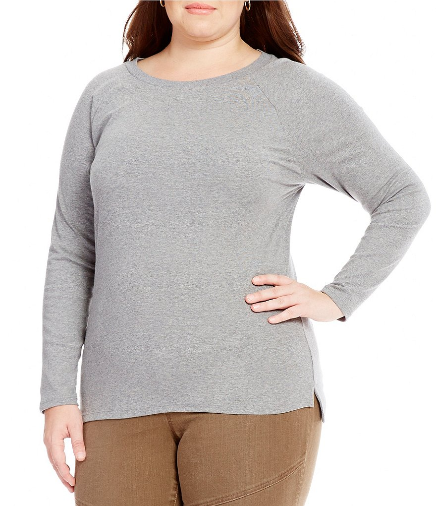 Lauren Ralph Lauren Plus Stretch Cotton Long-Sleeve Tee
