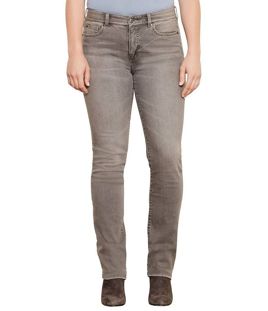 Lauren Ralph Lauren Plus Premier Stretch Straight-Leg Jeans