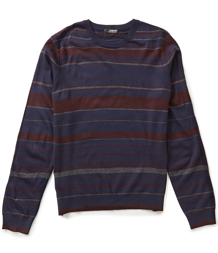 Murano Performance Stripe Crew-Neck Sweater