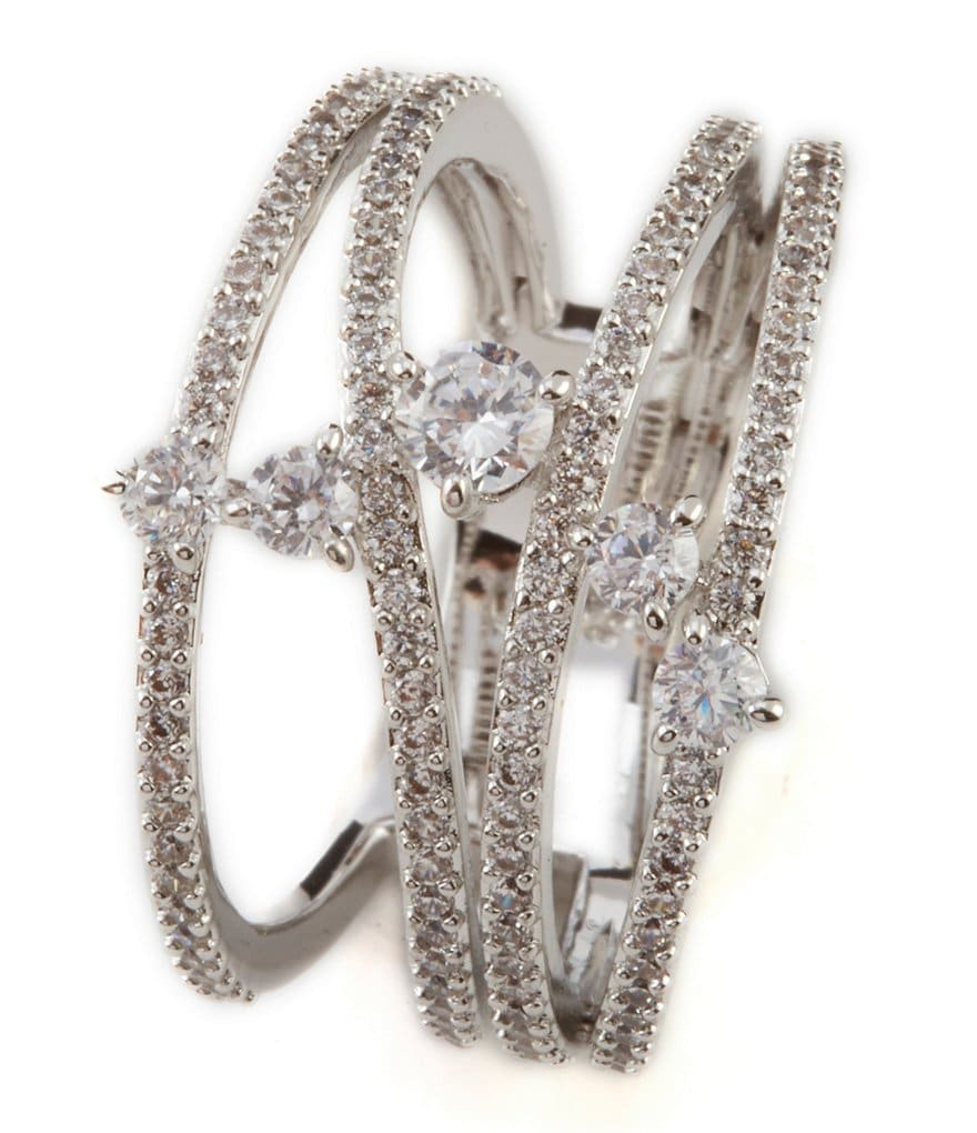 Nadri Fluidity Cubic Zirconia Statement Ring