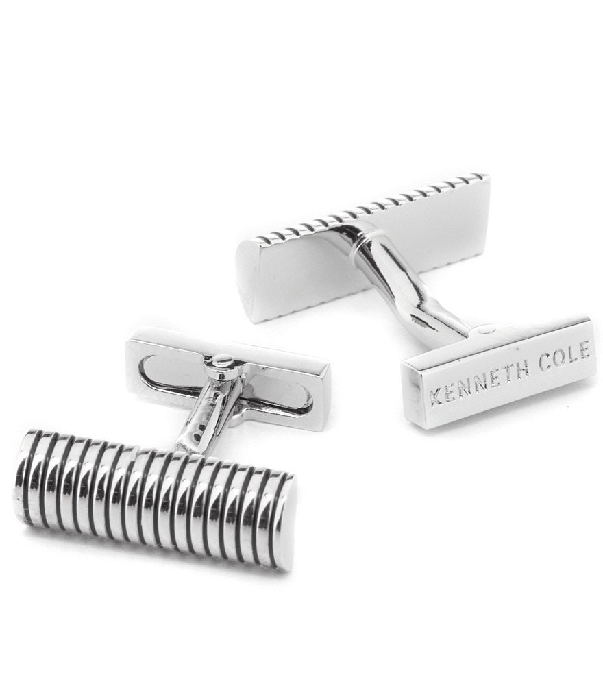 Kenneth Cole New York Rib Lined Cuff Links