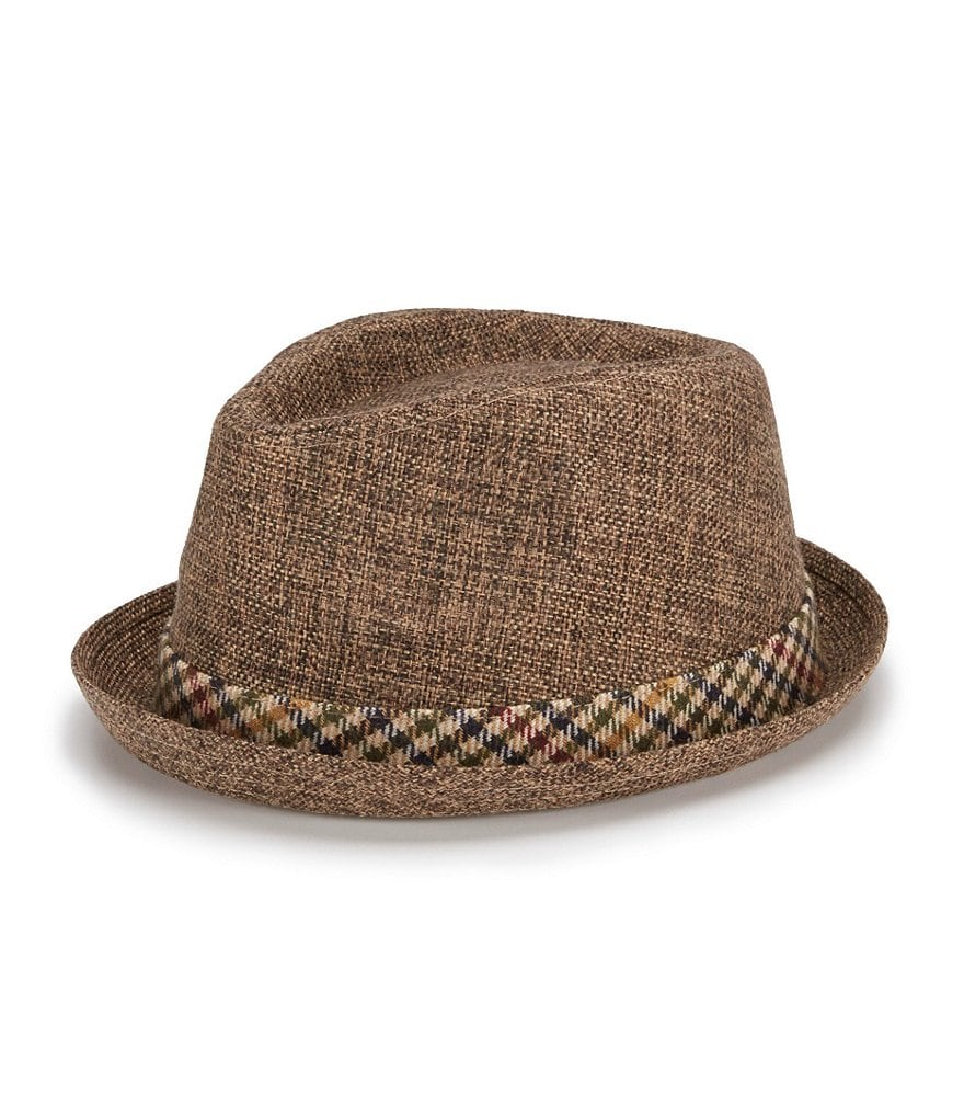 Cremieux Plaid Pork Pie Hat