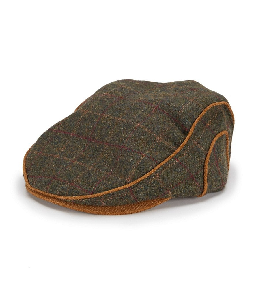 Cremieux Wool Plaid Driver Hat