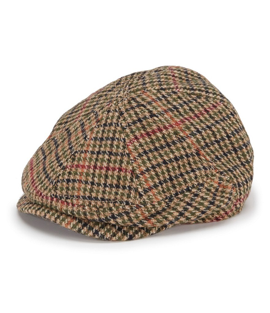 Men's Vintage Style Hats Houndstooth Newsboy Hat $30.00 AT vintagedancer.com