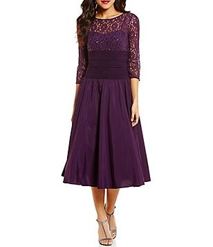 Jessica Howard Illusion Lace Party Dress