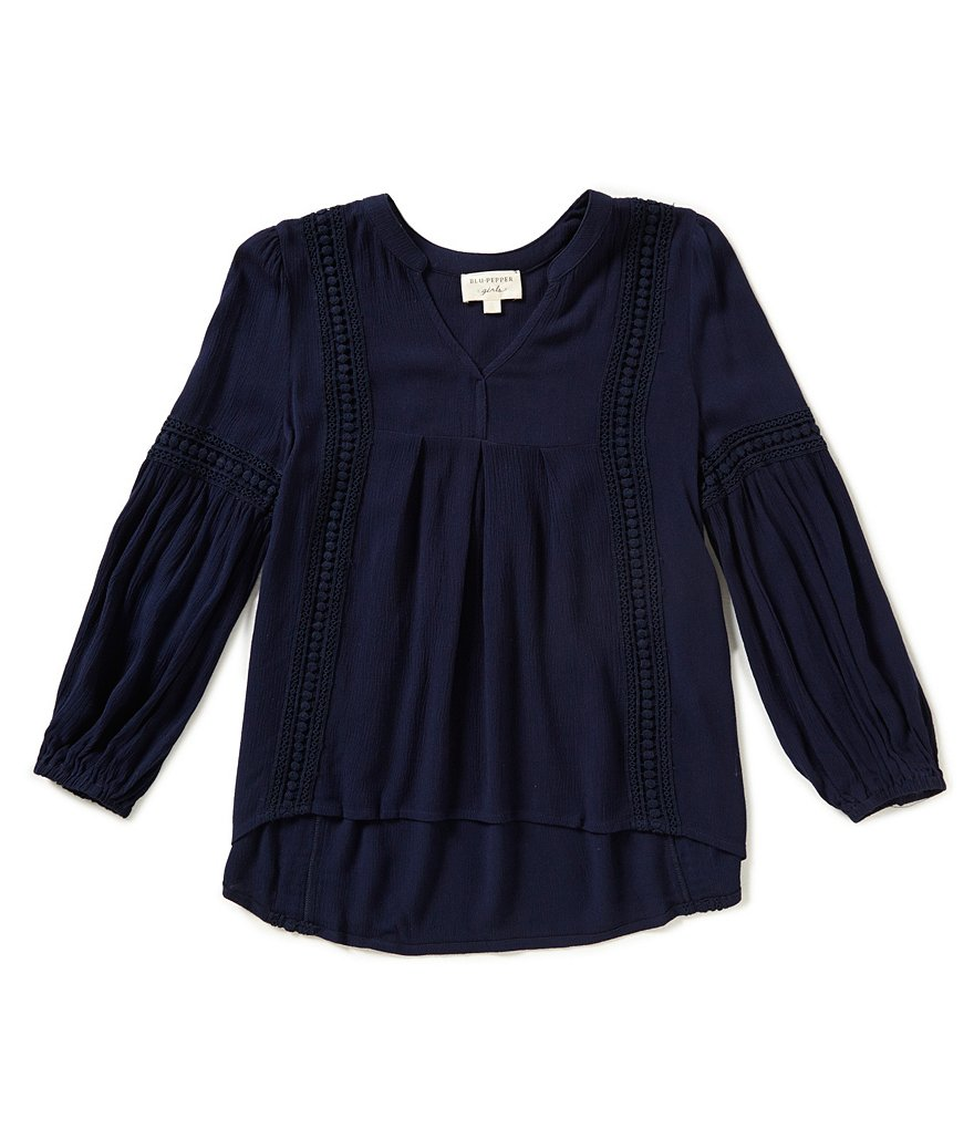 Blu Pepper Big Girls 7-16 Peasant Top