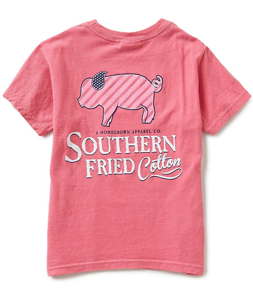 Southern Fried Cotton Big Boys 8-20 Striped Pig Short-Sleeve Graphic Tee