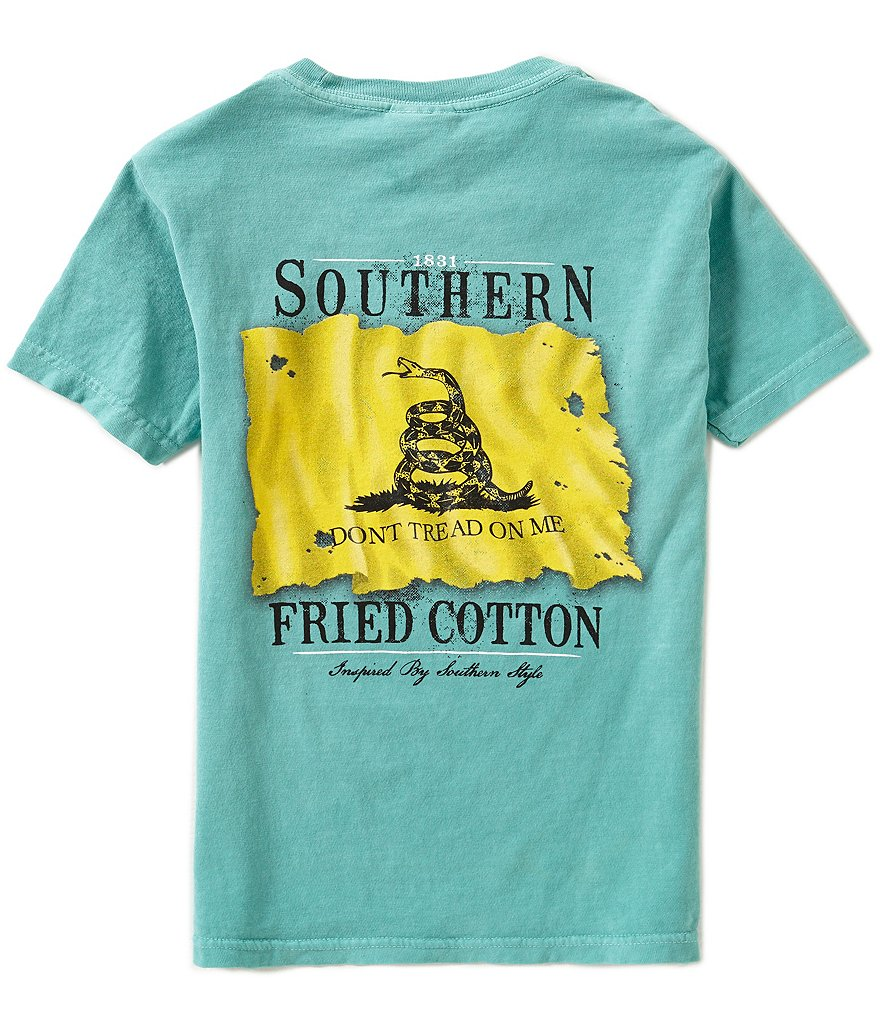 Southern Fried Cotton Big Boys 8-20 Don't Tread Short-Sleeve Graphic Tee