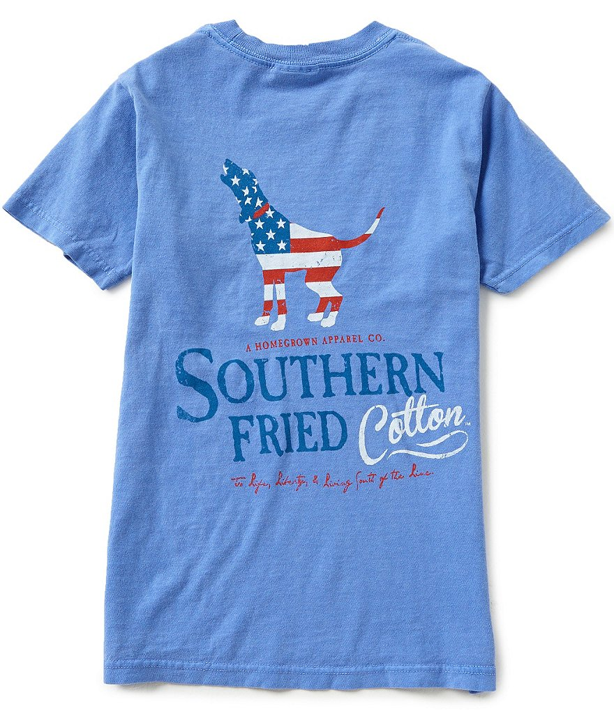 Southern Fried Cotton Big Boys 8-20 American Hound Short-Sleeve Americana Graphic Tee