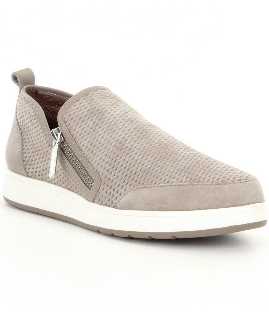 Donald J Pliner Myla Perforated Suede Slip On Sneakers