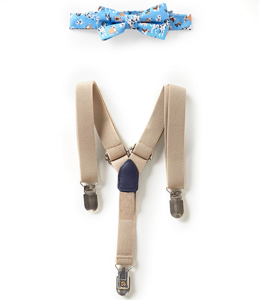 Starting Out Puppy Bowtie and Suspender Set