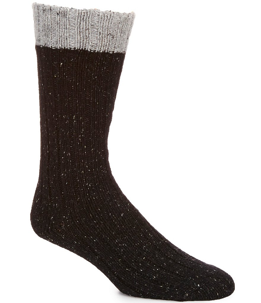 UGG® Classic Color Block Ribbed Knit Crew Socks