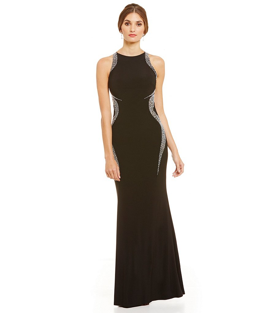 Cachet Beaded Caviar Jersey Dress
